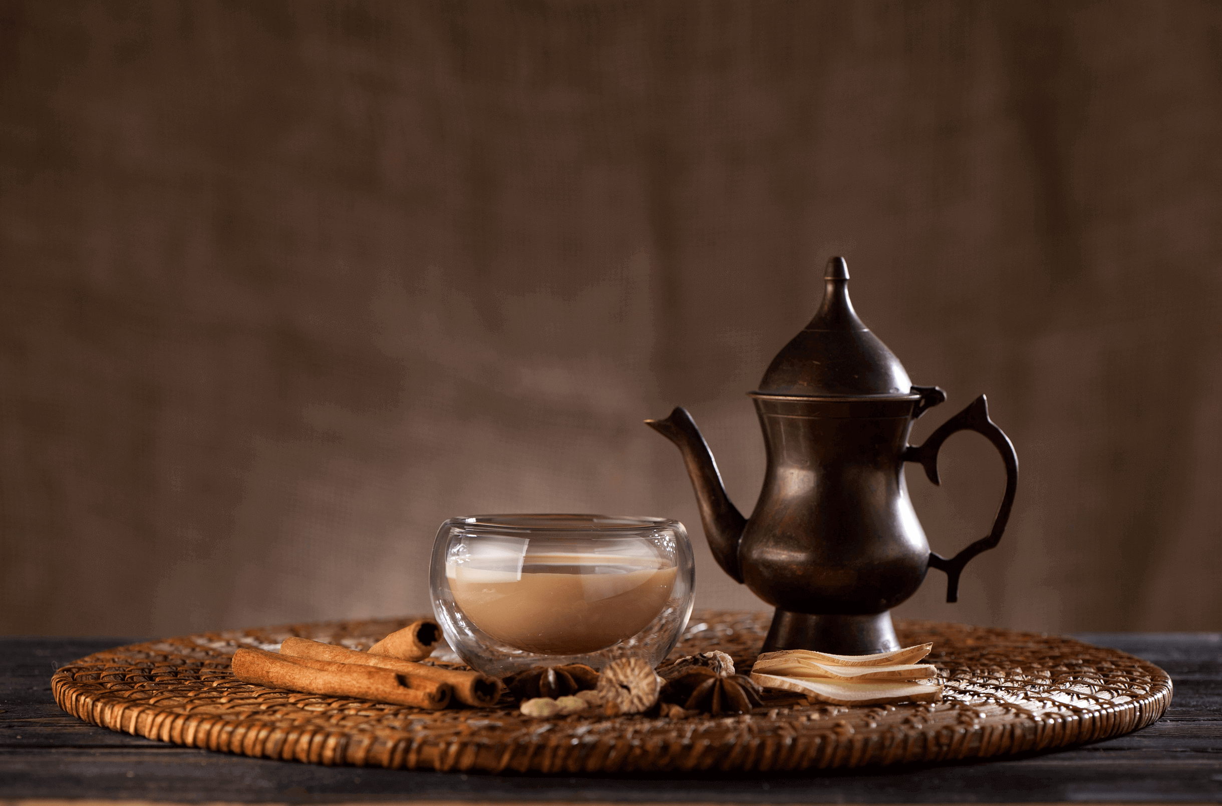 masala chai with spices and spicy