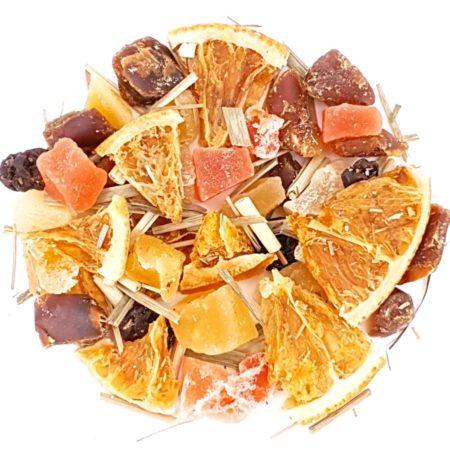 tropische Früchte-Mischung für ein Früchtetee